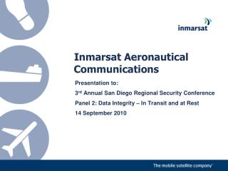 Inmarsat Aeronautical Communications