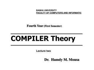 ___________________________________________ COMPILER Theory