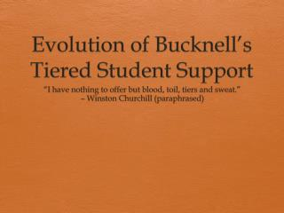 Evolution of  Bucknell's  Tiered Student Support