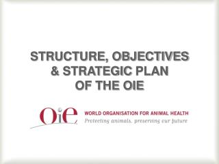 STRUCTURE, OBJECTIVES  &  STRATEGIC  PLAN  OF THE OIE