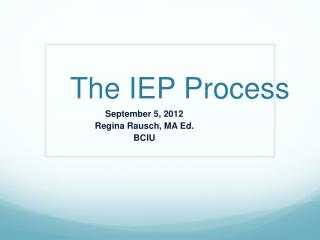 The IEP Process