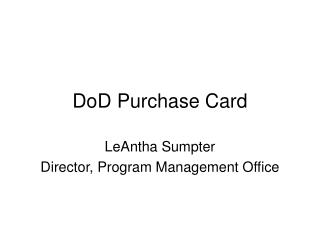 DoD Purchase Card