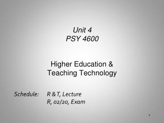 Higher Education & Teaching Technology