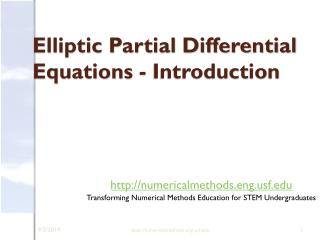 Elliptic Partial Differential Equations - Introduction