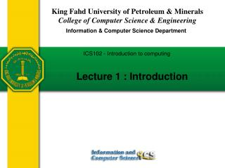 King Fahd University of Petroleum & Minerals College of Computer Science & Engineering
