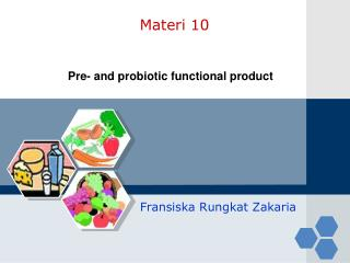 Pre- and probiotic functional product