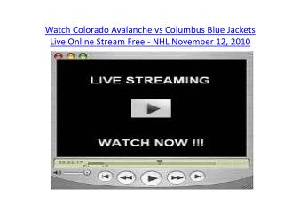 Watch Colorado Avalanche vs Columbus Blue Jackets Live Onlin