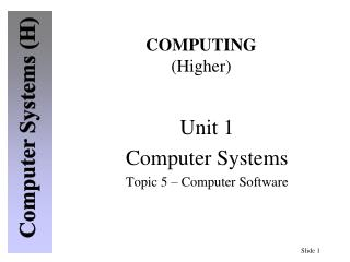 COMPUTING (Higher)