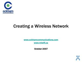 Creating a Wireless Network