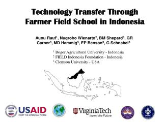 Technology Transfer Through  Farmer Field School in Indonesia