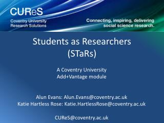 Students as  Researchers (STaRs)