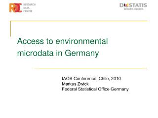 Access to environmental microdata in Germany
