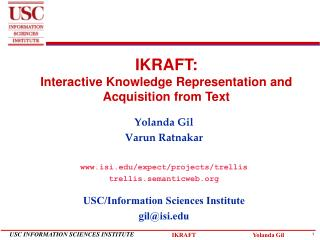 IKRAFT: Interactive Knowledge Representation and Acquisition from Text