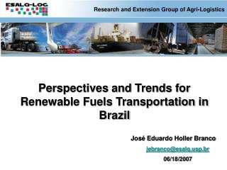Research and Extension Group of Agri-Logistics