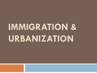 How are Modern Immigrants to the U.S. Different and Similar                                              from the Immigr