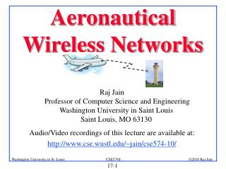 Aeronautical Wireless Networks