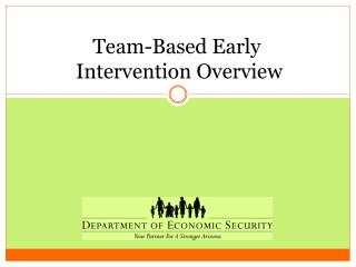 Team-Based Early  Intervention Overview