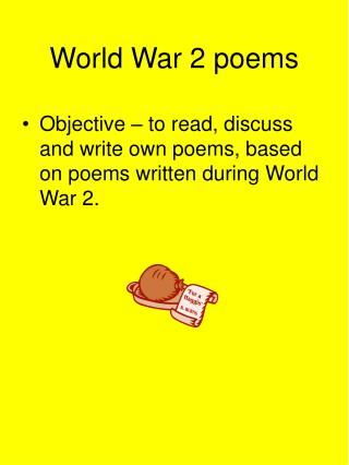 World War 2 poems
