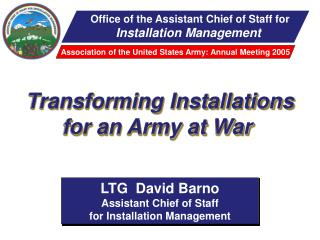 Office of the Assistant Chief of Staff for Installation Management