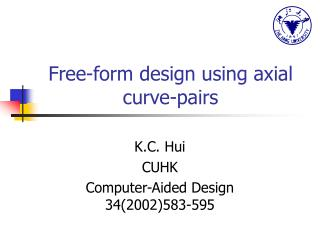Free-form design using axial curve-pairs