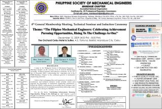 4 th  General Membership Meeting, Technical Seminar and Induction Ceremony