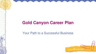 Gold Canyon Career Plan