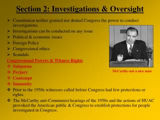 Section 2: Investigations & Oversight