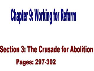 Chapter 9: Working for Reform