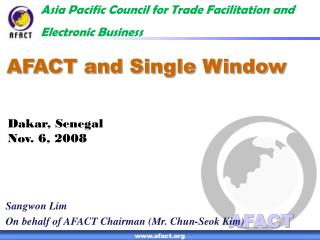 AFACT and Single Window