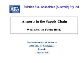 Airports in the Supply Chain What Does the Future Hold?