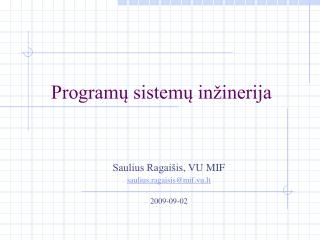 Programų sistemų inžinerija