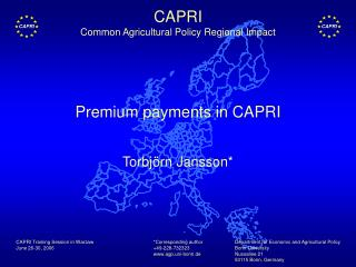 Premium payments in CAPRI