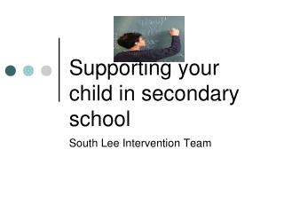 Supporting your child in secondary school