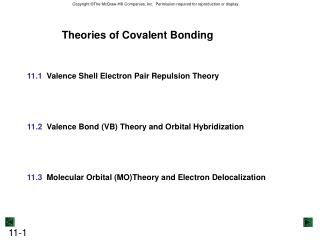 Theories of Covalent Bonding