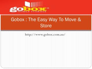 Container Hire Melbourne - Gobox.com.au