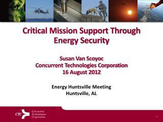 Energy Huntsville Meeting Huntsville, AL