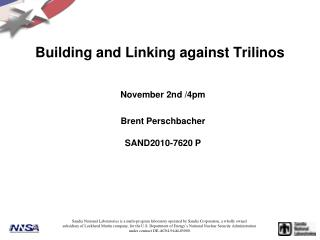 Building and Linking against Trilinos