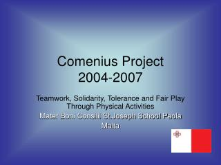 Comenius Project 2004-2007