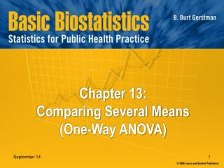 Chapter 13:  Comparing Several Means  (One-Way ANOVA)