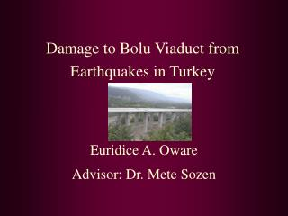 Damage to Bolu Viaduct from Earthquakes in Turkey