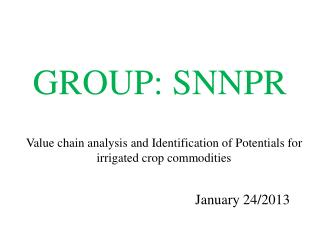 GROUP: SNNPR