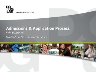 Admissions & Application Process