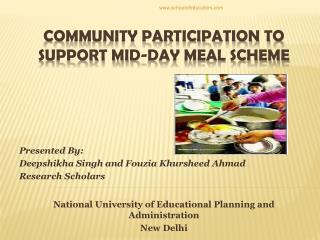 Community participation to support mid-day meal scheme