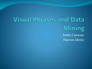 Visual Phrases and Data Mining
