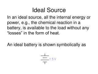 Ideal Source