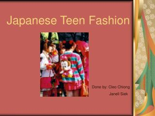 Japanese Teen Fashion