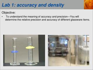 Lab 1: accuracy and density