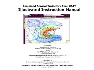 Combined Aerosol Trajectory Tool, CATT Illustrated Instruction Manual