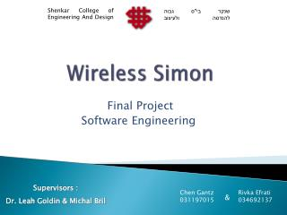 Wireless Simon