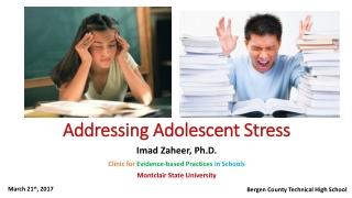 Addressing Adolescent Stress